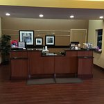 L to R, front main entrance to foyer to breakfast area.