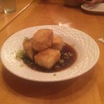 Lightly fried tofu with green onion and a ponzu sauce  Chirashi  Sashimi Regular  All first rate