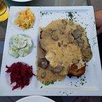 PRZEKLADANIEC ZAKOPIANSKI Potato pancakes stuffed with your choice pan fried pork or chicken cut