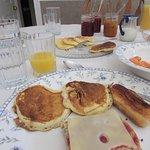delicious, generous breakfast