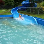Water slide. This you need a wrist band to slide down, so it costs.