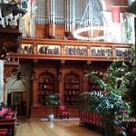 Pipe organ in the dining room