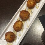 Must try - the fried goat cheese balls appetizer. Drizzled in honey with lavender. Amazing!! The