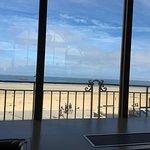 La plage vue depuis les Thermes