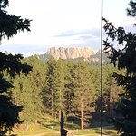 Back of Mt. Rushmore from Deck (bit of magnification)