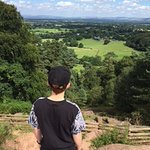 Over looking Cheshire from The Edge at Alderley Edge
