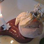 Un dessert individuel ... avec bougie d'anniversaire