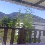 vue de la terrasse du mobilhome