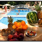 Pool Comfort with Exotic Fruits Served