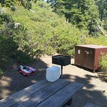 Campsite 6 Grill and Bear Box