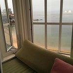 window bench overlooking the bay