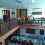 Upper view of restaurant