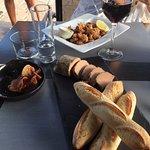 Entrées foie gras et soupions