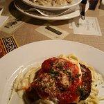 Tortellini with shrimp; Chicken parmagiana
