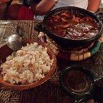 plat de calamars avec le riz