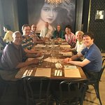 The second of two full tables of happy visitors (any many picky eaters)!