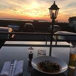 Fantastic sunset over the Isle of Arran