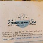 Neuer Am See Cafe - Restaurant Foto
