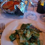 Amazing Caesar salad and cheese bread appies