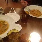 Minestrone Soup and Prawn Risotto