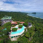 Amazing Aerial Panoramic view of La Mariposa Hotel, in Manuel Antonio, Costa Rica