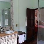 Daisy has a nice bathroom with shower