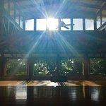 Yoga studio in the morning