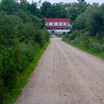 Path to Kettle Falls Hotel (hotel has golf carts for rides)