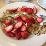 Plain crepes with Strawberries ....SOOOO GOOD