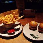 Happy Hour Crispy Fries and Slider Burgers