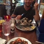 Steamed oyster bucket!!! He ate every single one!! SO GOOD!