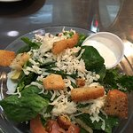 Salad with ranch dressing
