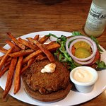 Crab Cake Burger with Sweetheart Fries