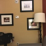 The OCD in me wants to move and rehang the picture behind the lamp!