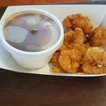 Delicious! If you're a shrimp snob youll love their shrimp basket. Cooked to perfection! A littl
