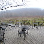 Side Deck Overlooking Vineyard