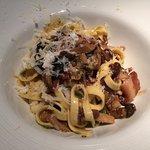 Fettuccine Funghi E Pancetta