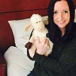 Me and the cute sheep.
