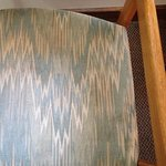 Stains on the ugly chairs that don't go with anything in the room.