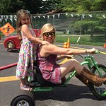 Bring the family and ride our pedal car track, big wheel trikes for adults
