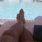 Relaxing at the pool deck following a nice massage