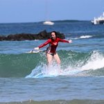 surfing at the beach in Tamarindo