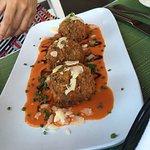 Mushroom risotto balls