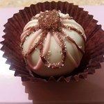 "A ""showgirl"" truffle. Delicious treat!"