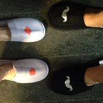Complimentary his and hers slippers