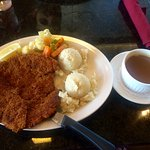 Veal Schnitzel, mashed potatoes, gravy