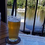 Outboard Cream Ale on the river