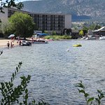 Hotel from Lake Okanagan