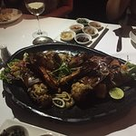 Seafood platter - delicious and fresh! Choose your sauce!
