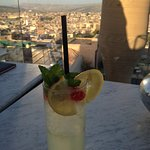 Citronade au bar de la terrasse